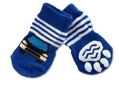 #Socks_Blue Car Doggy Socks