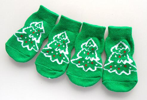 Christmas Tree Doggy Socks
