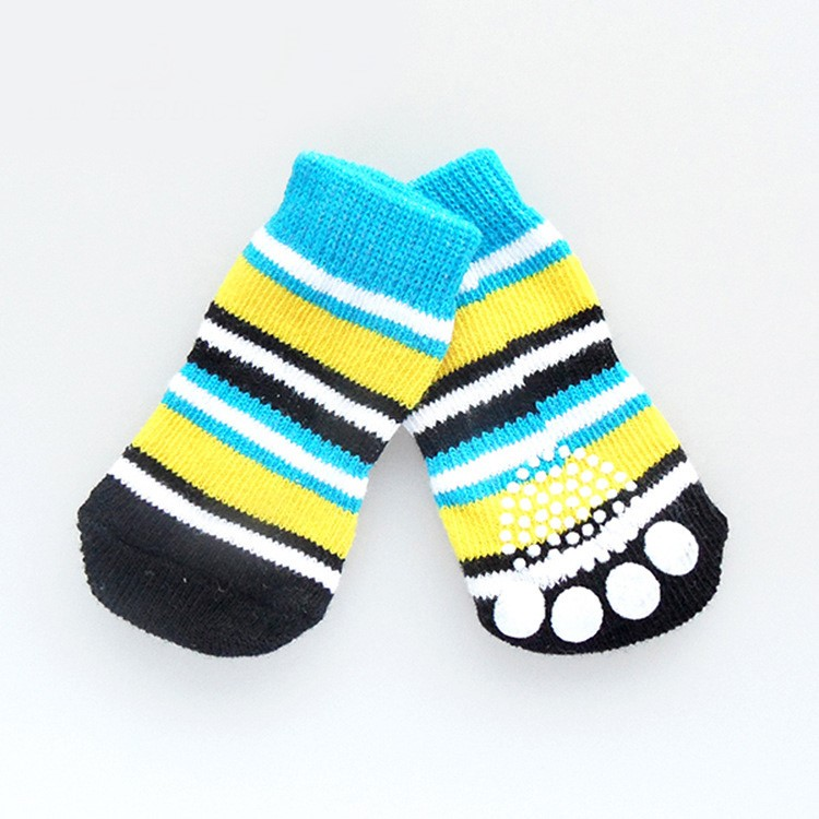 # Socks_Classic Blue & Yellow Stripes
