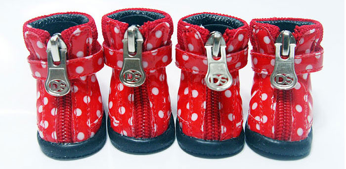 Dot Hound Hikers - Red