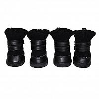 Fuzzys Dog Boots - Black