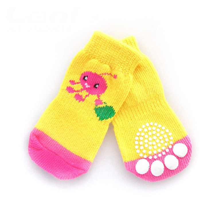 #Socks_Pink Shopping Lady Bug Doggy Socks