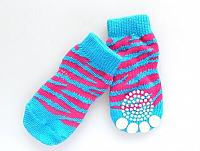 # Socks_Mod Blue & Pink Stripes