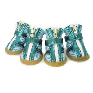 Sporty Boots Teal Metallic