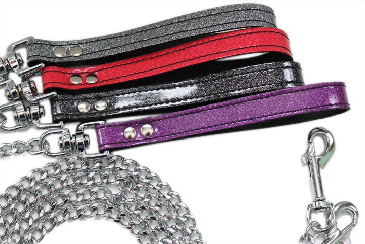 Glitter Leash with Chain Lead - Assorted Colors