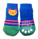 Blue & Green Panda Doggy Socks