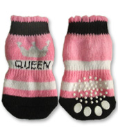 Black, White and Pink Queen Doggy Socks