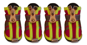 Fire Engine Red Reflector Boots