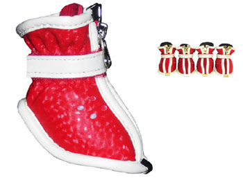 Fire Engine Red Doggy Stylin\' Boots