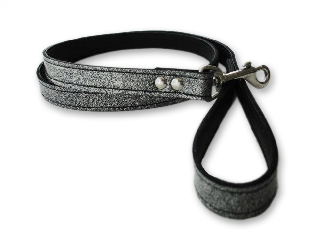 Silver Diamond Glitter Leash