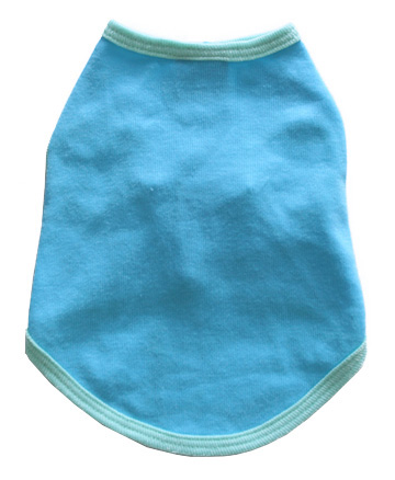 Aqua with Light Blue Trim Blank Doggy Tank