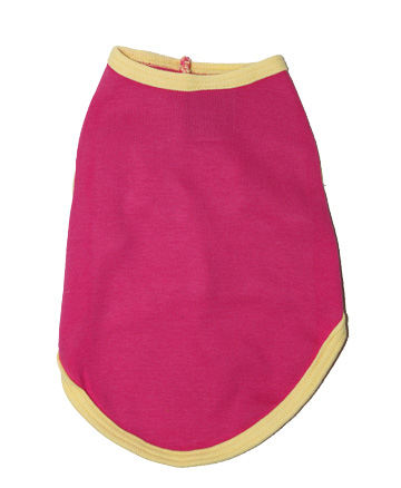 Pink with Yellow Trim Blank Doggy Tank