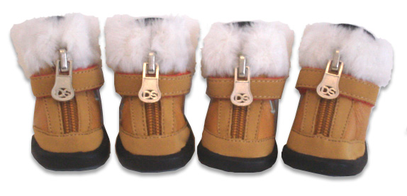 Brown Hiker Boot with Faux Fur Trim