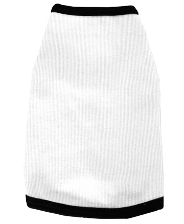 white spandex cotton tank