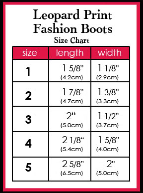 Boot Size Chart